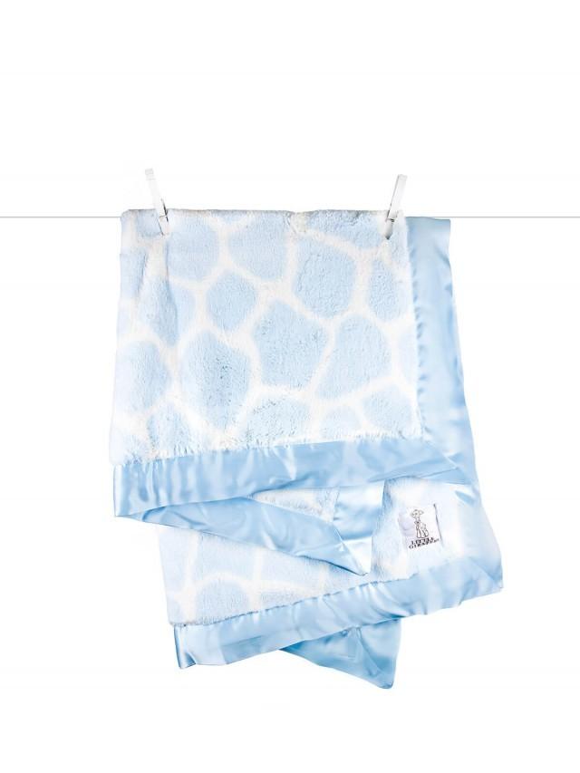 Little Giraffe 豪華長頸鹿紋嬰兒毯 - 藍色