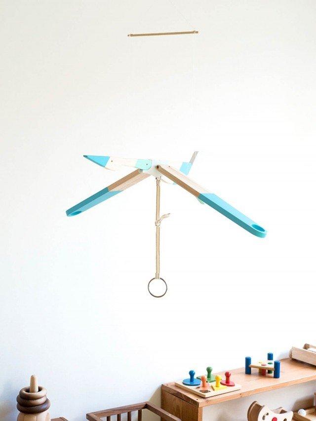 eguchi toys 飛鳥吊飾 - 海鷗 ( 藍 )