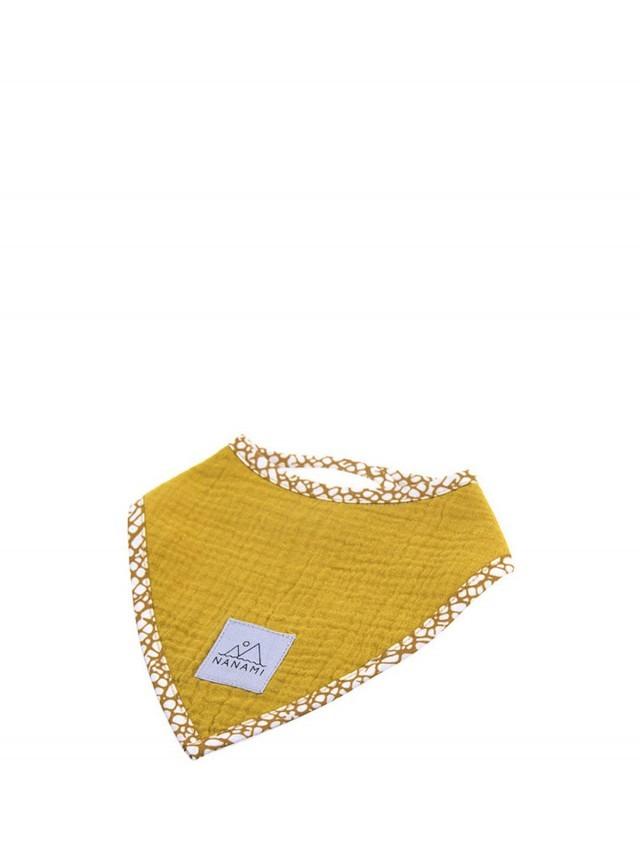 NANAMI 雙層有機棉三角領巾 / 圍兜 - 黃色
