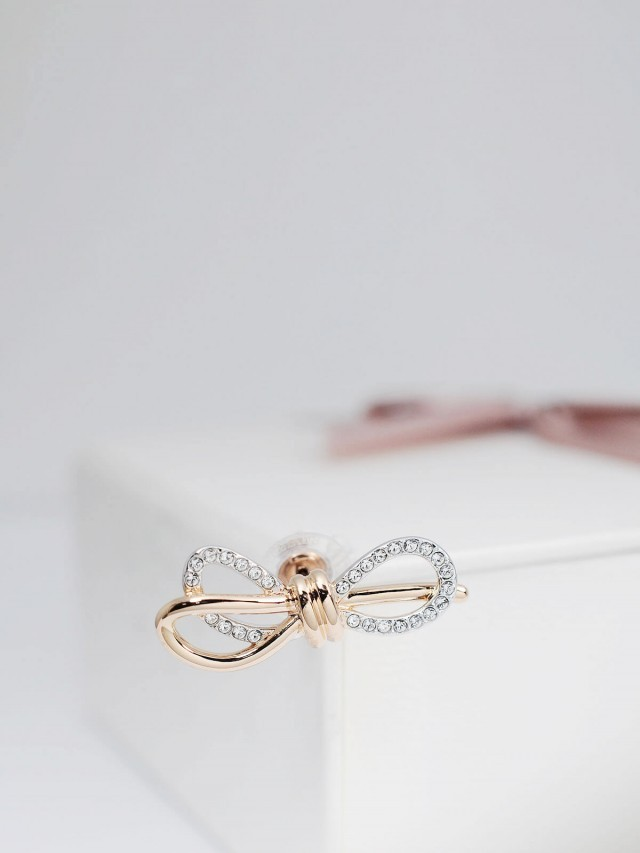 SWAROVSKI LIFELONG BOW 璀璨蝴蝶結耳環
