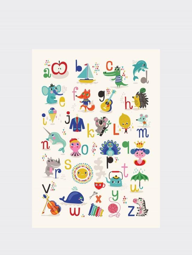 PETIT MONKEY ABC 字母海報 ( 蘋果 A ~ 斑馬 Z)
