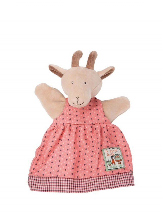 Moulin Roty 歡樂家庭手偶 Pierrette 羊 25 cm