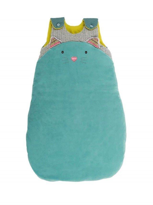 Moulin Roty 帕奇藍貓防踢被 70 cm