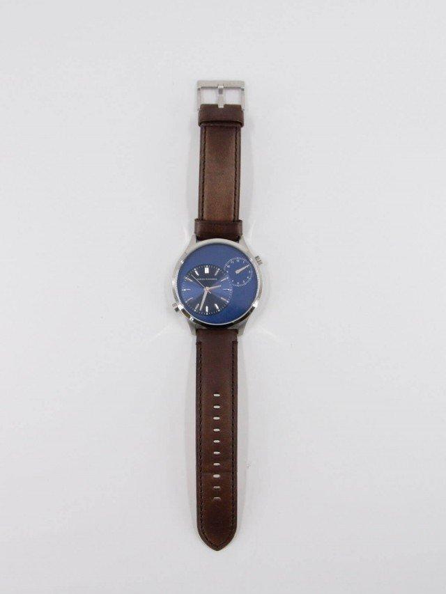ARMANI EXCHANGE 文青紳士皮革腕錶