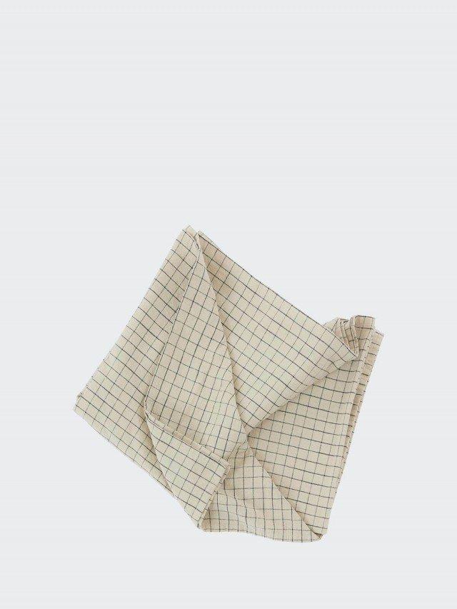 OYOY Gird 有機純棉格紋桌巾 - 經典黑白 x 大