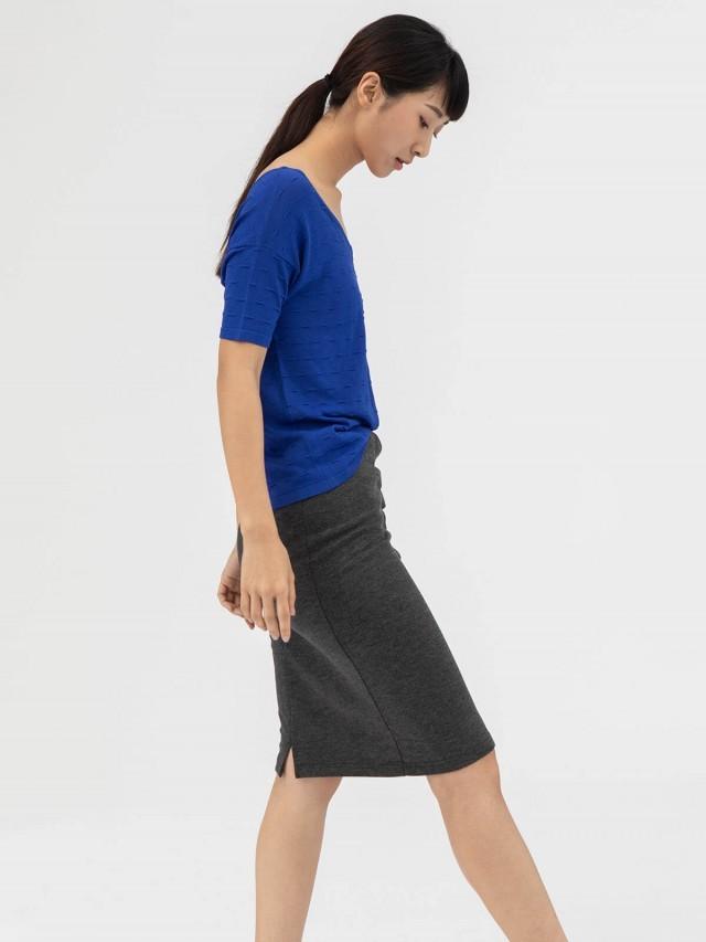 AUSTIN W. 針織上衣 - 淺藍
