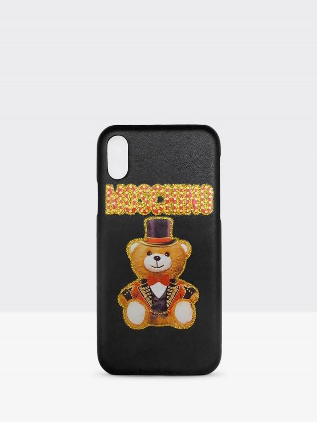 MOSCHINO 新款皇家熊熊 iPhone X 手機殼 - 黑色