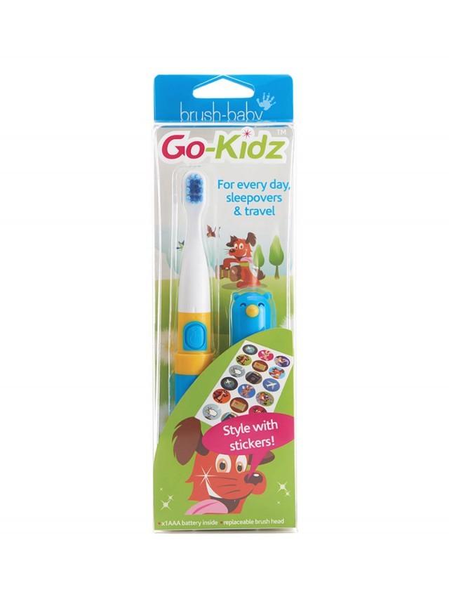 brush-baby 外出攜帶型 GoKidz 聲波電動牙刷 x 粉藍