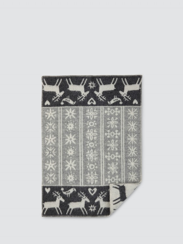 KLIPPAN 有機羊毛毯 - 北歐極光小精靈 / 暖灰灰