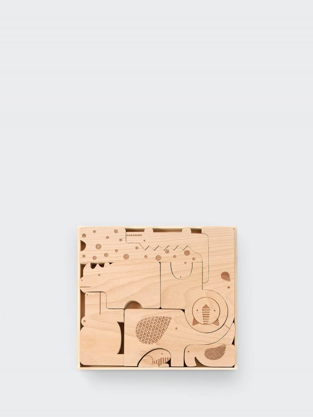 petit collage 動物立體原色積木 - 野生動物