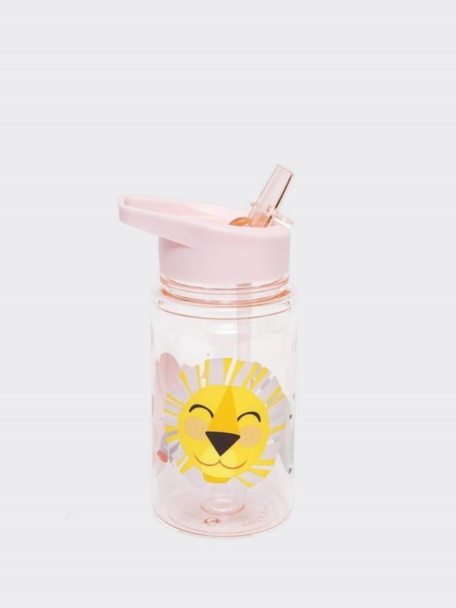 PETIT MONKEY 兒童水杯 - 粉紅獅子與好朋友