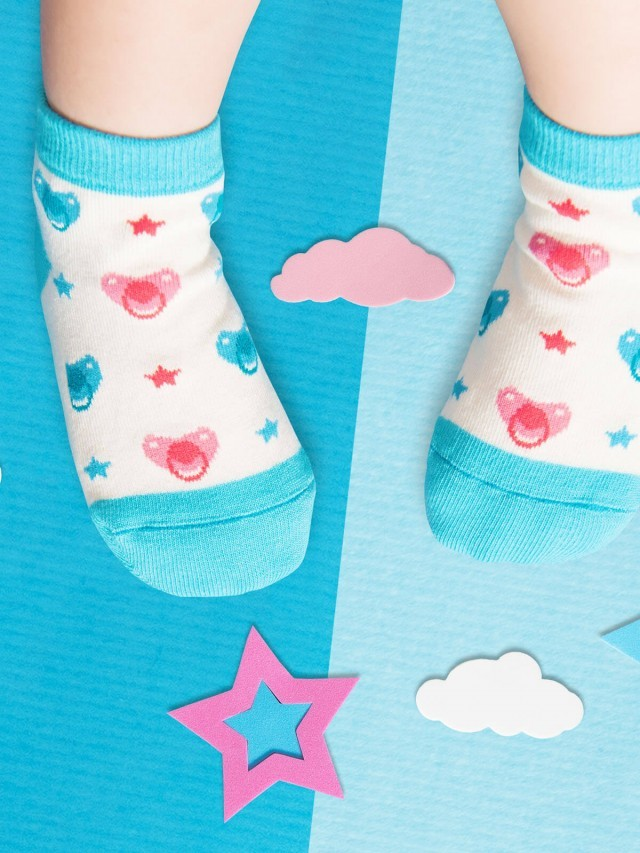 sokker 奶嘴星防滑 2 分之 1 童襪