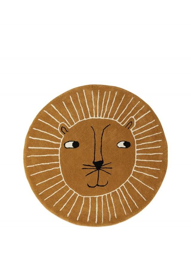OYOY 造型手工羊毛地毯 - 獅子王