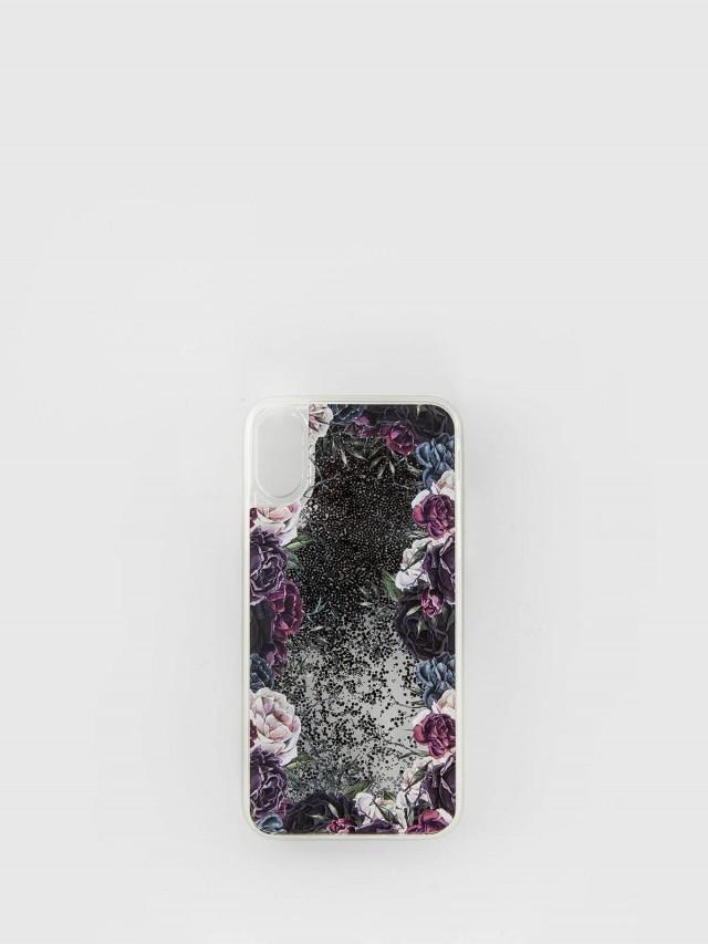 CASETiFY iPhone X  祕密花園黑色流沙手機殼