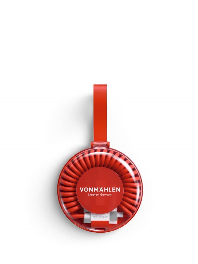 VONMÄHLEN 甜甜圈多合一充電傳輸線 - 紅色
