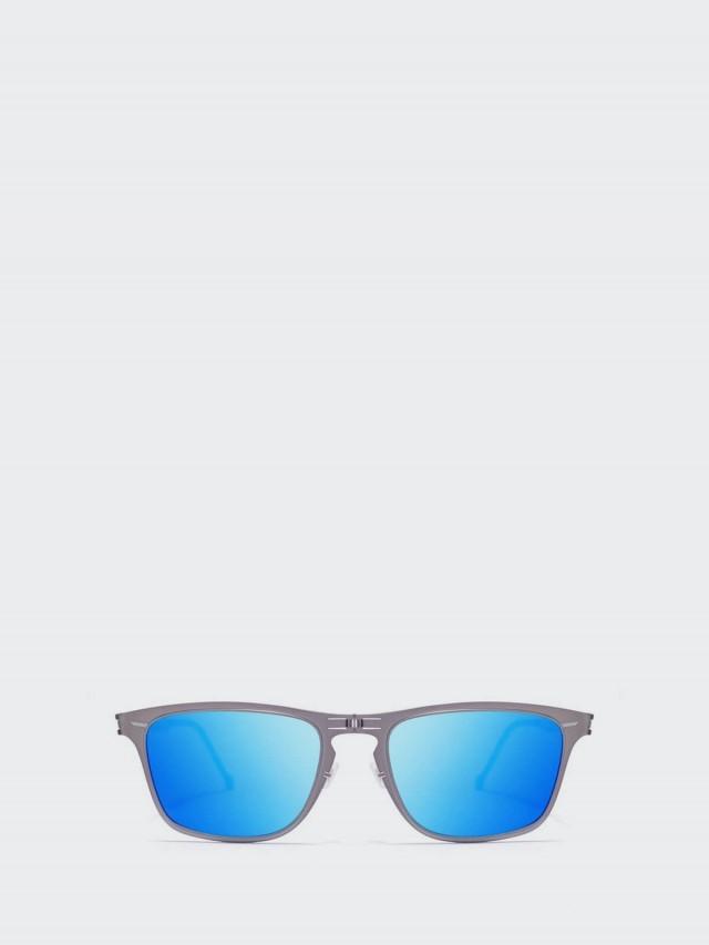 ROAV 薄鋼摺疊太陽眼鏡 -  Franklin 槍色框 / 藍水銀鏡片