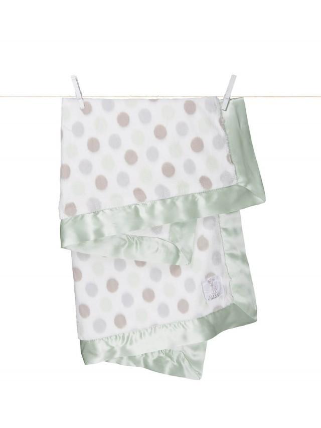 Little Giraffe 點點嬰兒毯 - 綠色
