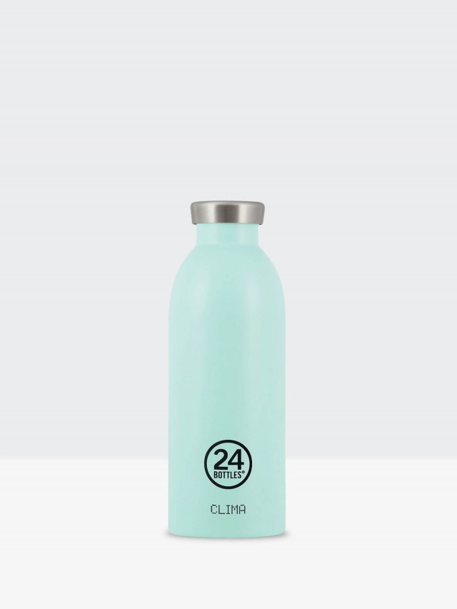 24Bottles Clima 不銹鋼雙層保溫瓶 500ml -  天空藍