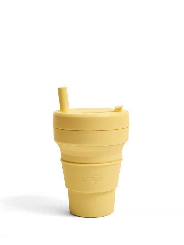 stojo 折疊伸縮杯 16oz - 含羞草黃