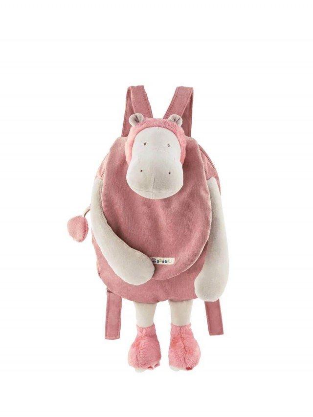Moulin Roty Zazous 粉紅河馬背包