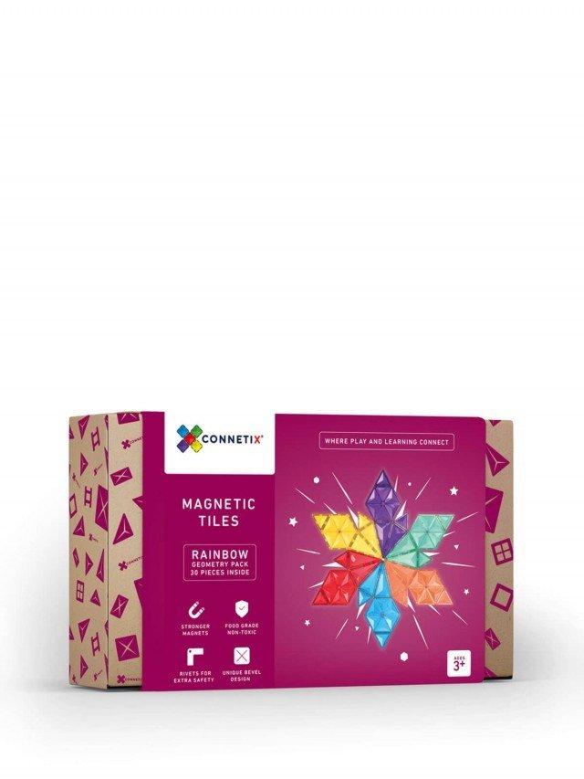CONNETIX 彩虹磁力積木 - 幾何圖形組 ( 30 pc )