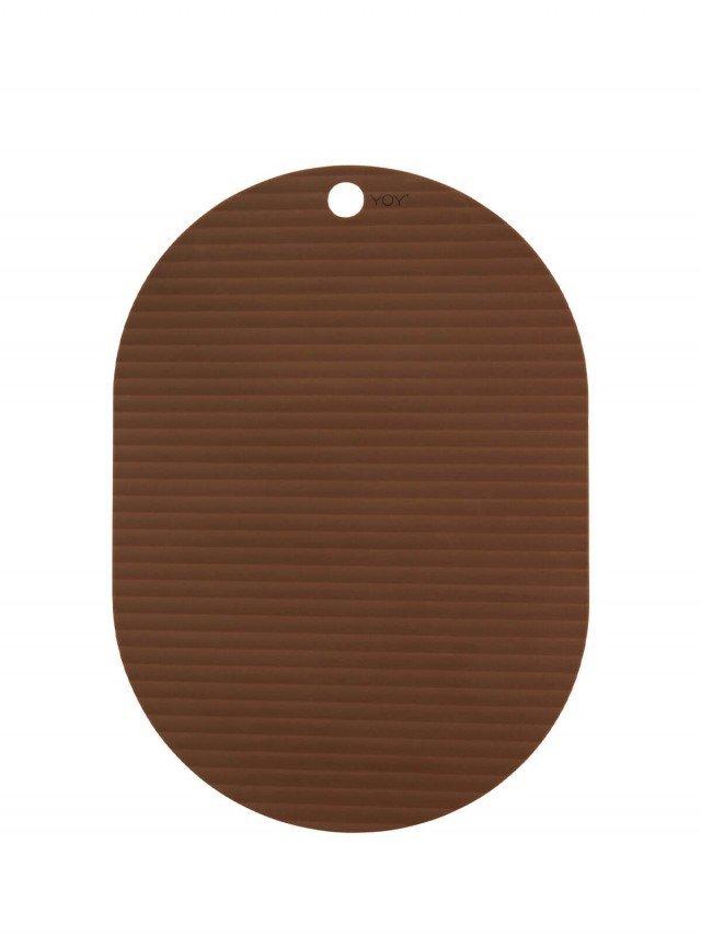 OYOY 橢圓形矽膠餐墊 - 焦糖 ( 2入組 )