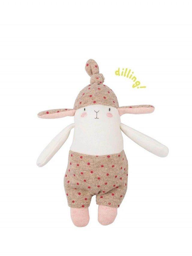 Moulin Roty Les Petits Dodos 兔子造型手搖鈴 21 cm