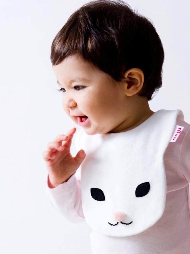 Niva 動物造型圍兜 - 口水巾 ( 兔寶寶滴滴 x 粉紅 )