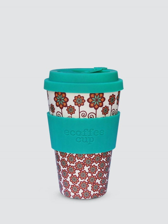 ecoffee cup 14 oz 隨行杯 - 和平小花