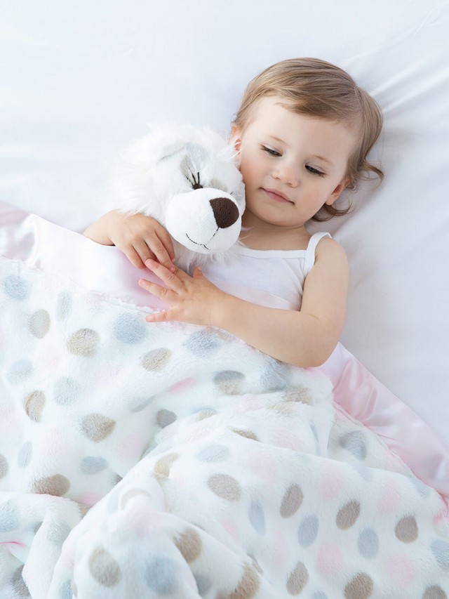 Little Giraffe 點點嬰兒毯 - 粉色