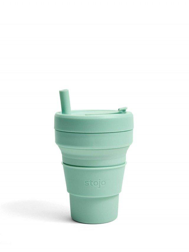 stojo 折疊伸縮杯 16oz - 泡泡綠