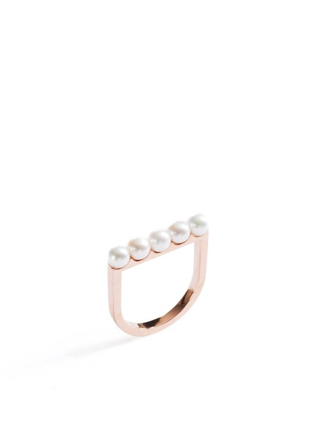 ARTISMI Button 系列 | 珍珠戒指 | Rose Gold 14K