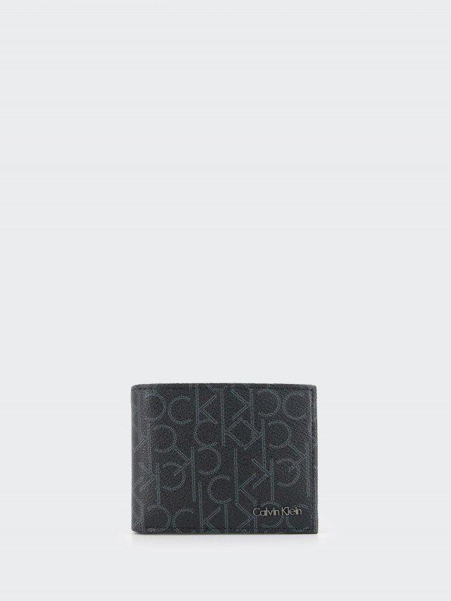Calvin Klein CK 品牌文字 PVC 雙摺零錢袋皮夾