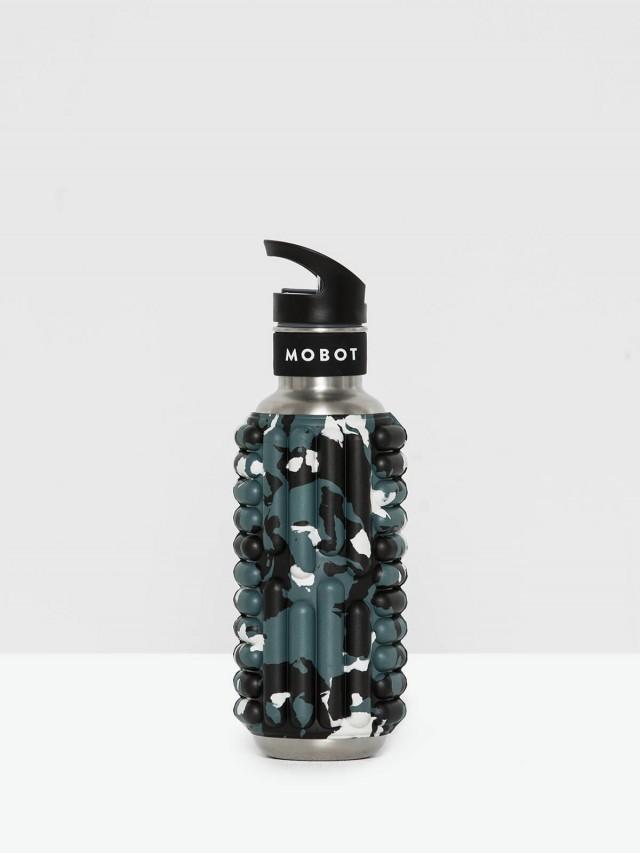 MOBOT 27 oz 按摩滾輪水壺 - 黑白迷彩