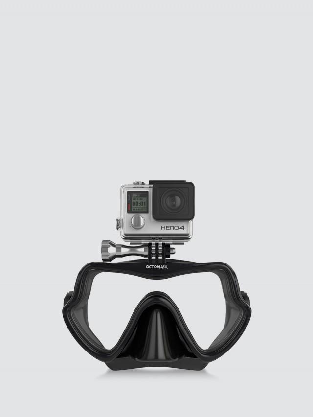 OCTOMASK Frameless Dive Mask GoPro 無邊框潛水面罩 - 黑